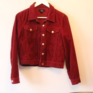 Soft and Beautiful Burgundy Corduroy Jacket